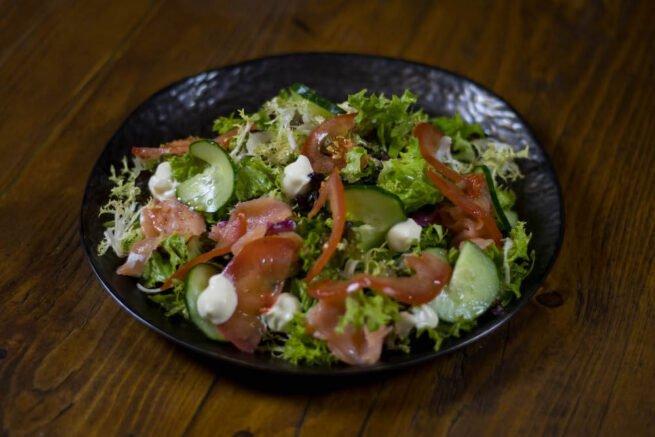 Gerookte zalm salade